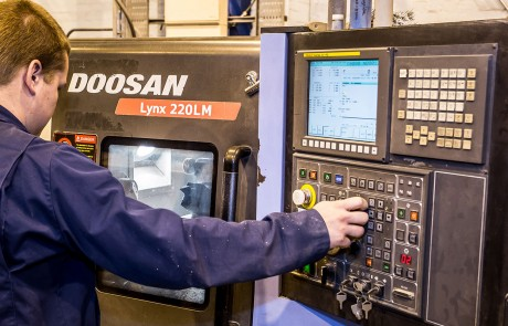 Tufcot Composite Materials being Manufactured on doosan machine