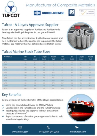 Lloyds approved- Tufcot T100