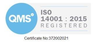 Tufcot ISO 14001 registered certificate badge